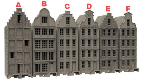 Dutch Townhouses - OTP Terrain & Miniatures Off The Print Gaming