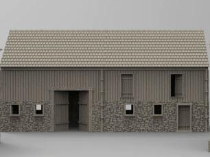 German Boarder Shed / Barn - OTP Terrain & Miniatures Off The Print Gaming