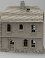 German Boarder House A - OTP Terrain & Miniatures Off The Print Gaming