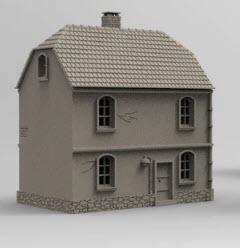 German Boarder House B - OTP Terrain & Miniatures Off The Print Gaming