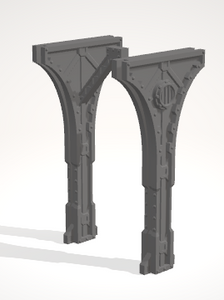 Gothic Archway-[40KTerrain]-[Fantasyterrain]-[3DPrintedTerrain]-[Wargaming]-[Tabletopgaming]-OTP Terrain Off The Print Gaming