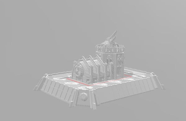 6mm Anti-Air platform with Gothic gun tower