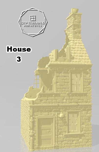 Destroyed Home #3 - OTP Terrain & Miniatures Off The Print Gaming