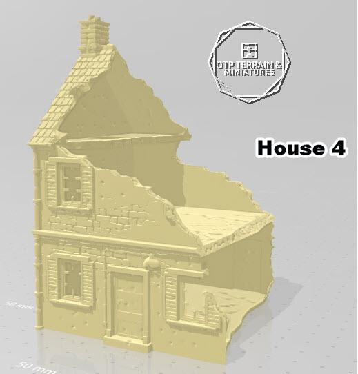 Destroyed Home #4 - OTP Terrain & Miniatures Off The Print Gaming
