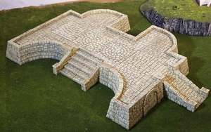 Tikal Temple Grounds Layout D-[40KTerrain]-[Fantasyterrain]-[3DPrintedTerrain]-[Wargaming]-[Tabletopgaming]-OTP Terrain Off The Print Gaming