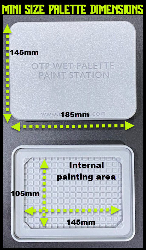 Mini Size Wet Palette Paint Station (Silver)
