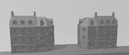 Normandy Harbor Buildings 20mm