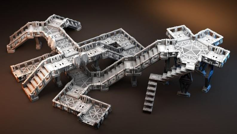 Orbital Outpost Elevated Walkway's Kit