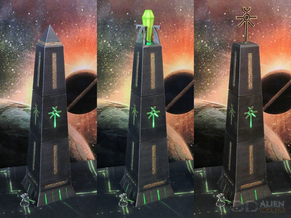 NECRO-NITE Obelisks Set of 3 Very Tall