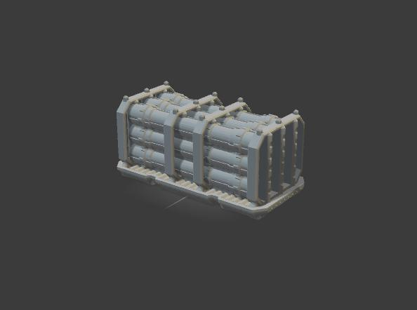 PIPE CRATE-[40KTerrain]-[Fantasyterrain]-[3DPrintedTerrain]-[Wargaming]-[Tabletopgaming]-OTP Terrain Off The Print Gaming