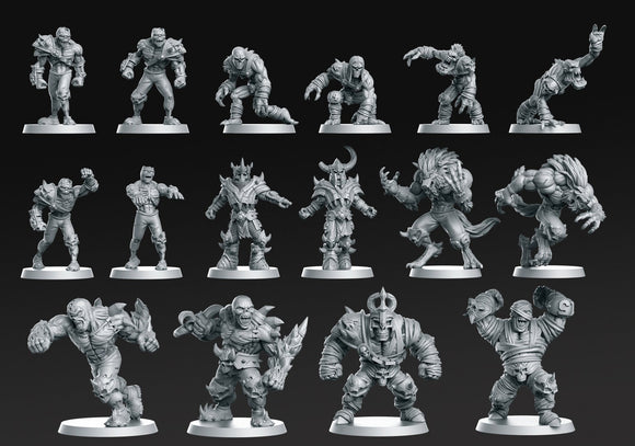 Eternals Team 16 Miniatures ( Fantasy Football) - OTP Terrain & Miniatures Off The Print Gaming