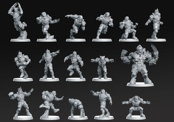 Human Team 16 Miniatures ( Fantasy Football) - OTP Terrain & Miniatures Off The Print Gaming