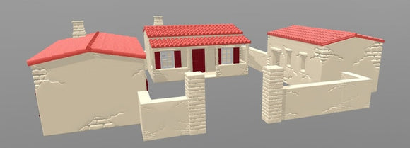 Rural Building Set - 28mm - 20mm