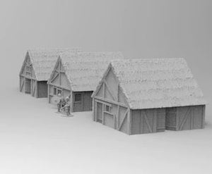 Saxon Village 3 House Set
