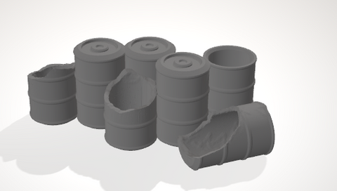 Scatter Barrel 3-[40KTerrain]-[Fantasyterrain]-[3DPrintedTerrain]-[Wargaming]-[Tabletopgaming]-OTP Terrain Off The Print Gaming