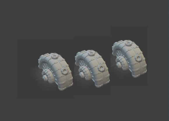 6mm Set Of 3 Shield Generators