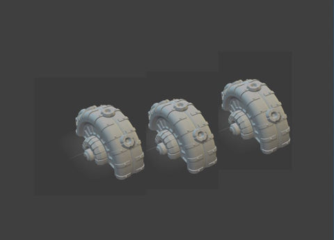 Set of 3 Shield Generator-[40KTerrain]-[Fantasyterrain]-[3DPrintedTerrain]-[Wargaming]-[Tabletopgaming]-OTP Terrain Off The Print Gaming