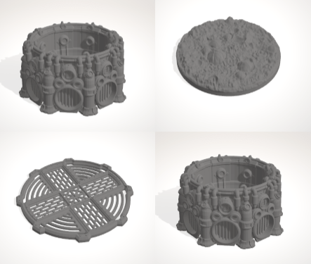 2 x Cauldron Set-[40KTerrain]-[Fantasyterrain]-[3DPrintedTerrain]-[Wargaming]-[Tabletopgaming]-OTP Terrain Off The Print Gaming