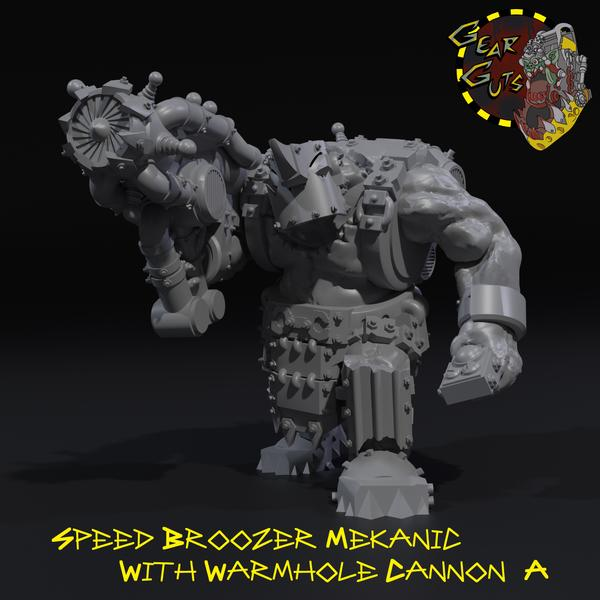 Speed Broozer Mekanic Boss with Wormhole Cannon - A