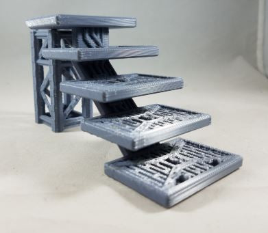 Stairway – Half Size-[40KTerrain]-[Fantasyterrain]-[3DPrintedTerrain]-[Wargaming]-[Tabletopgaming]-OTP Terrain Off The Print Gaming