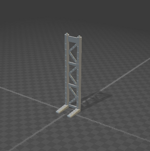 6mm Support Tower Full Size 2 Posts L Leg