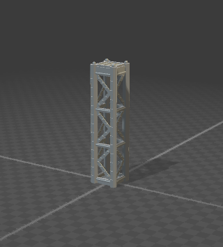 6mm Support Tower Full Size 4 Posts
