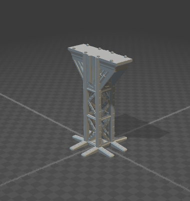 6mm Support Tower With Angles 2x1