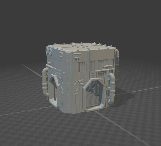 Tower Mechanical Style A-3 Doorways-[40KTerrain]-[Fantasyterrain]-[3DPrintedTerrain]-[Wargaming]-[Tabletopgaming]-OTP Terrain Off The Print Gaming
