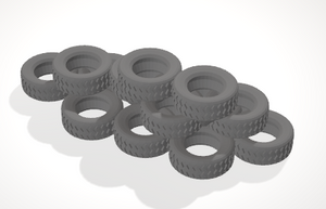 Tyres 3-[40KTerrain]-[Fantasyterrain]-[3DPrintedTerrain]-[Wargaming]-[Tabletopgaming]-OTP Terrain Off The Print Gaming