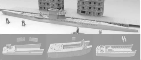 Landing Craft Set of 3 LCM , LCA & LCVP
