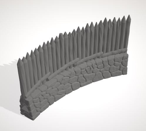 Palisade Fence 45 Bend