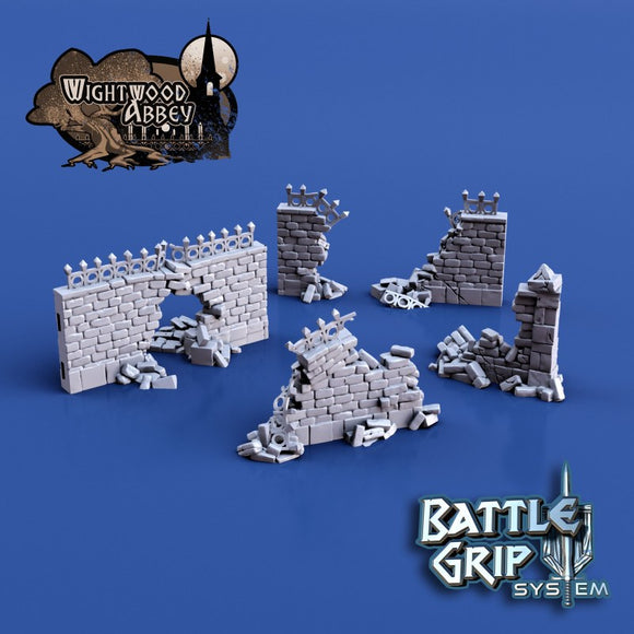 Wightwood Abbey Medieval Modular Wall Ruins Set
