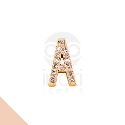SS charm letter A with cystal - RS