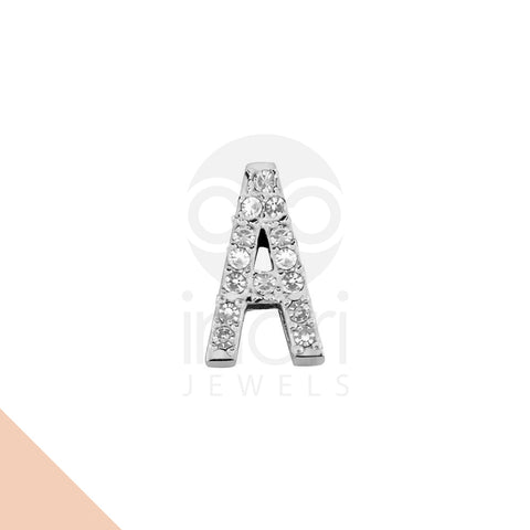 SS charm letter A with cystal - ST