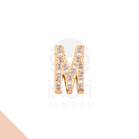 SS charm letter M with cystal - RS