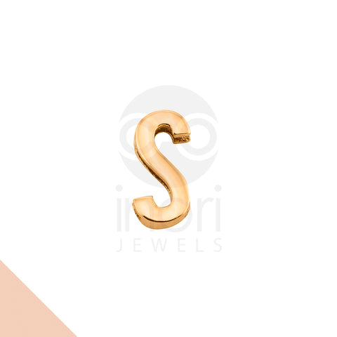 SS charm letter S - RS