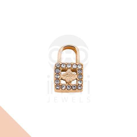 SS charm lock with cystal - RS