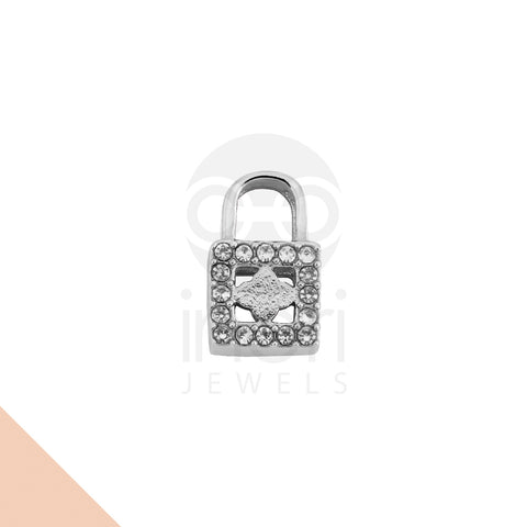 SS charm lock with cystal - ST