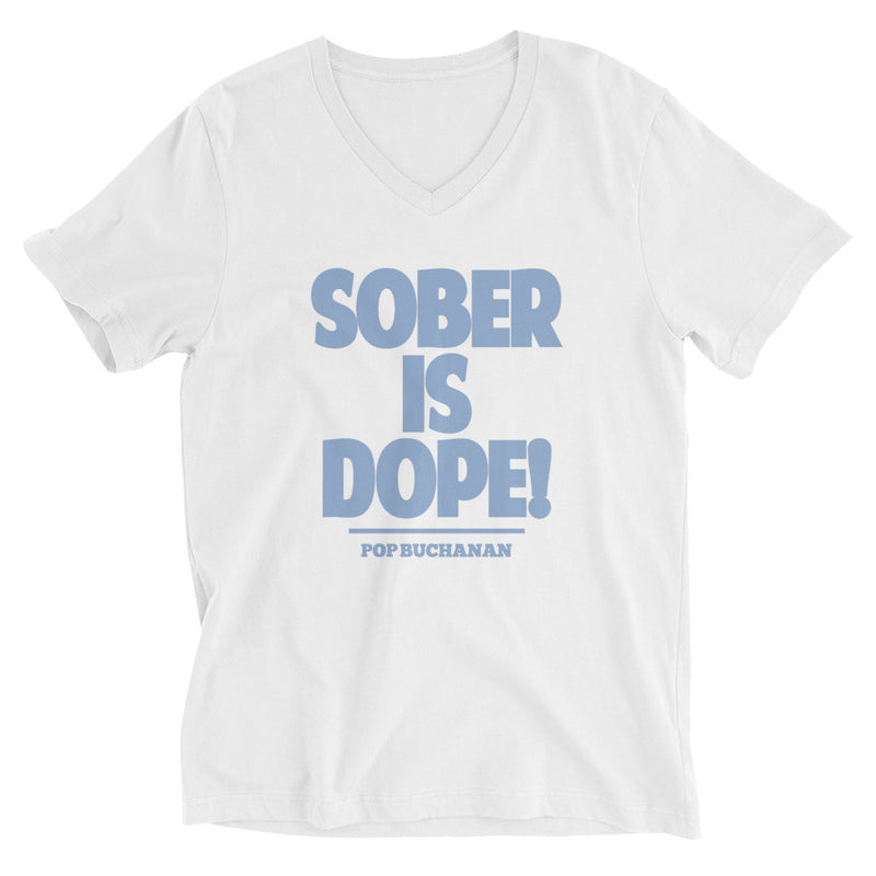 Sober Is Dope V-Neck T-Shirt - Sober Is Dope