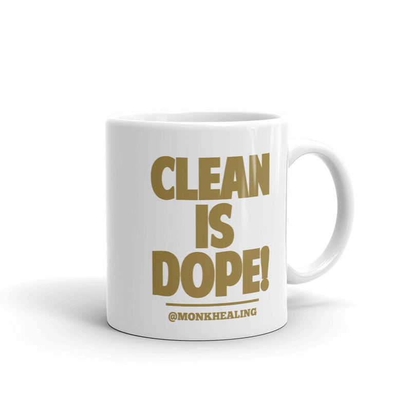 Clean is Dope Printed Mug - Sober Is Dope