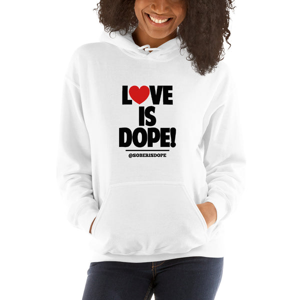 Love is Dope Hearts Unisex Hoodie