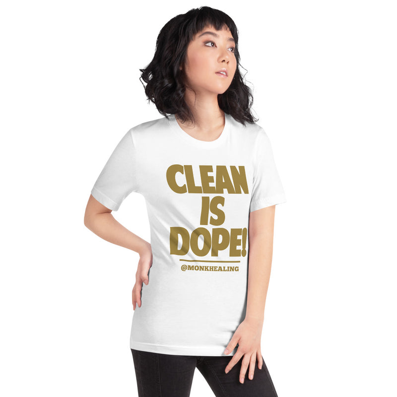 Clean is Dope Short-Sleeve Women's T-Shirt - Sober Is Dope