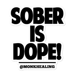 Sober is Dope Classic Bubble-free stickers