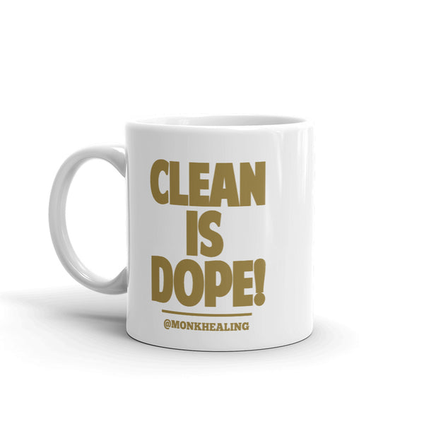Clean is Dope Printed Mug