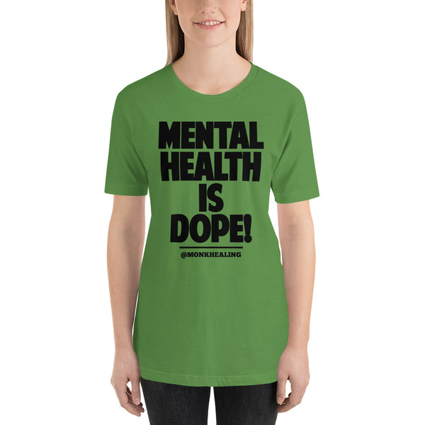 Mental Hope Is Dope Black Short-Sleeve Women's T-Shirt - Sober Is Dope