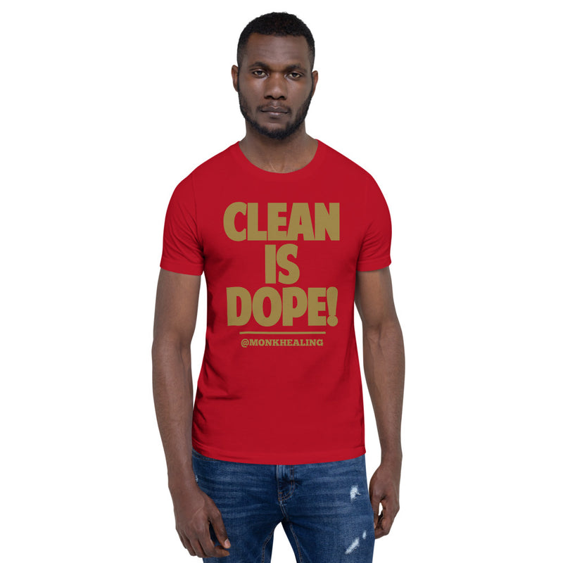 Clean Is Dope Short-Sleeve Men T-Shirt - Sober Is Dope