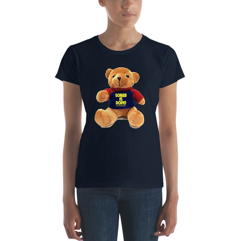 Sober is Dope Teddy Women's t-shirt (Support Children)