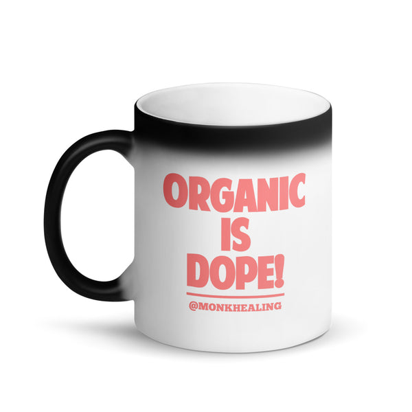 Vegan Is Dope Matte Black Magic Mug - Sober Is Dope