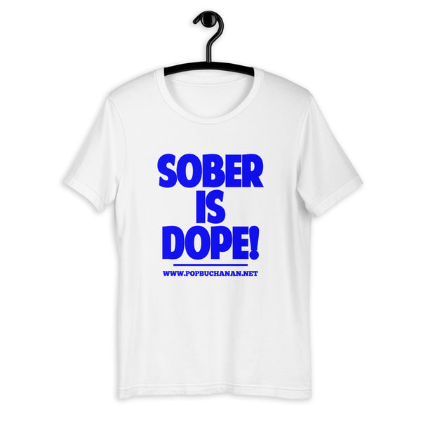 Sober is Dope Sky Blue Unisex T-Shirt