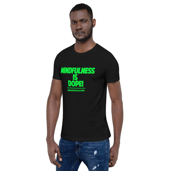 Mindfulness is Dope Short-Sleeve Men T-Shirt - Sober Is Dope